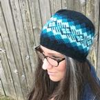 All Ages Waves of Plaid Crochet Beanie Pattern
