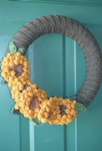 Sunflower Crochet Wreath Pattern
