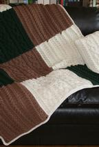 Crochet Cabled Big Block Afghan and Throw Pillow Pattern