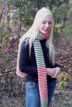 Christmas Surprise Scarf Pattern
