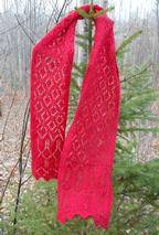 Cranberry Sauce Lace Scarf Pattern