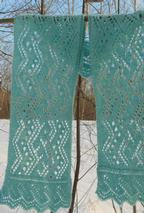 Rivers of Ice Lace Scarf Pattern
