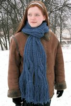 Winding River Ribbed Scarf Pattern Pattern