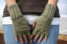 Fern Fingerless Gloves Pattern Pattern