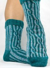Crazy Crazy Eights Socks Pattern Pattern