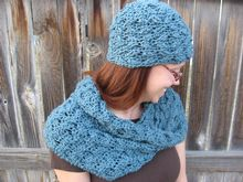 Warm Your Sweetheart Crochet Hat and Cowl Pattern Pattern