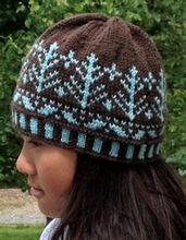 Sleeping Trees Hats Pattern Pattern