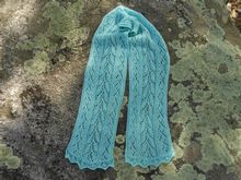 Mint Lace Scarf Pattern