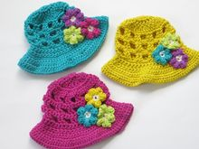 Sun Hat for Girls Crochet Pattern Pattern