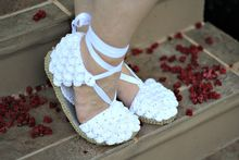 Crocodile Stitch Espadrilles (Adult Sizes) Pattern