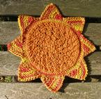 Sunflower Dishcloth Pattern