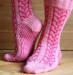 Faux Cable Socks Pattern