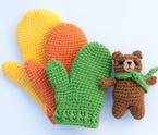 Kids Gifting Crochet Mittens Pattern