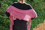 Moth Orchid Crescent Shawl Pattern