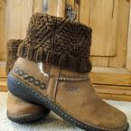 Diamond Boot Cuffs Pattern