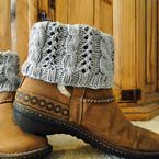 Cable Eyelet Boot Cuffs Pattern