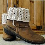 Eyelet Ivory Boot Cuffs Pattern