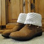 Teardrop White Boot Cuffs Pattern