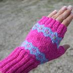 Sunburst Fingerless Mitts Pattern