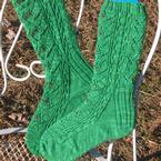 Pagoda Flowers Socks Pattern