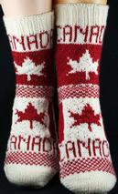 Flag Socks: Canada Pattern