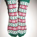 His & Hers Holly Socks Pattern