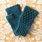 Lattice Work Fingerless Mitts Pattern