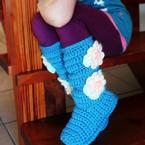 Youth Cozy Crochet Slipper Boots