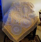 Paneled Lace Crochet Afghan Pattern