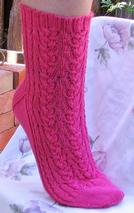 Braided Lace Socks Pattern