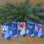 Nautical Christmas Stocking Ornament Pattern Set Pattern