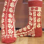 Mabon Leaves Socks Pattern