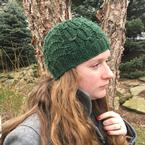 Art Deco Cabled Beanie Pattern