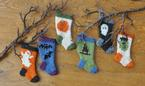 Halloween Stocking Ornament Set Pattern