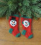 Snowman Pair Stocking Ornaments Pattern