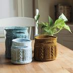 Crochet Cable Baskets Pattern