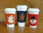 Coffee Cozies: Ghost, Gingerbread & Snowman Pattern
