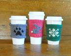 Coffee Cozies: Paw Print, Bunny, Snowflake Pattern