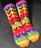 Love is Love Socks Pattern