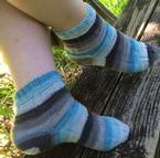 Stripey Stairs Socks Pattern