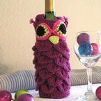Owl Drink to That Wine Bag Pattern