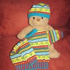 In Loving Color Baby Sweater and Hat Pattern
