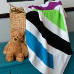 Modern Stripes Baby Blanket Pattern
