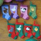 Easter and Farm Animals Stocking Ornaments Set Pattern