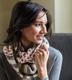 Polka Dot Stripes Cowl Pattern