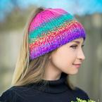 Get-Up-and-Go Messy Bun Hat Pattern