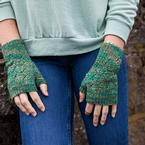 Diamond Leaf Mitts Pattern