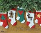 Whimsical Holiday Christmas Stocking Ornaments Pattern