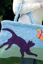 Felted Cat Pet Bag Pattern Pattern