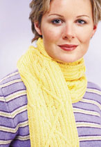 Cabled Scarf Pattern Pattern